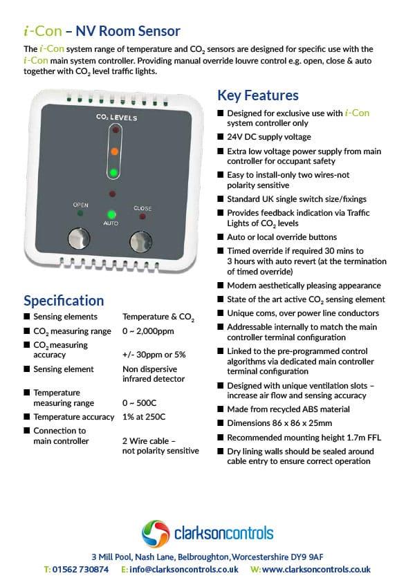 i-Con NV Room Sensor